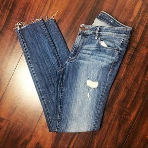 Loft Distressed Skinny Jeans Tall 28/6T